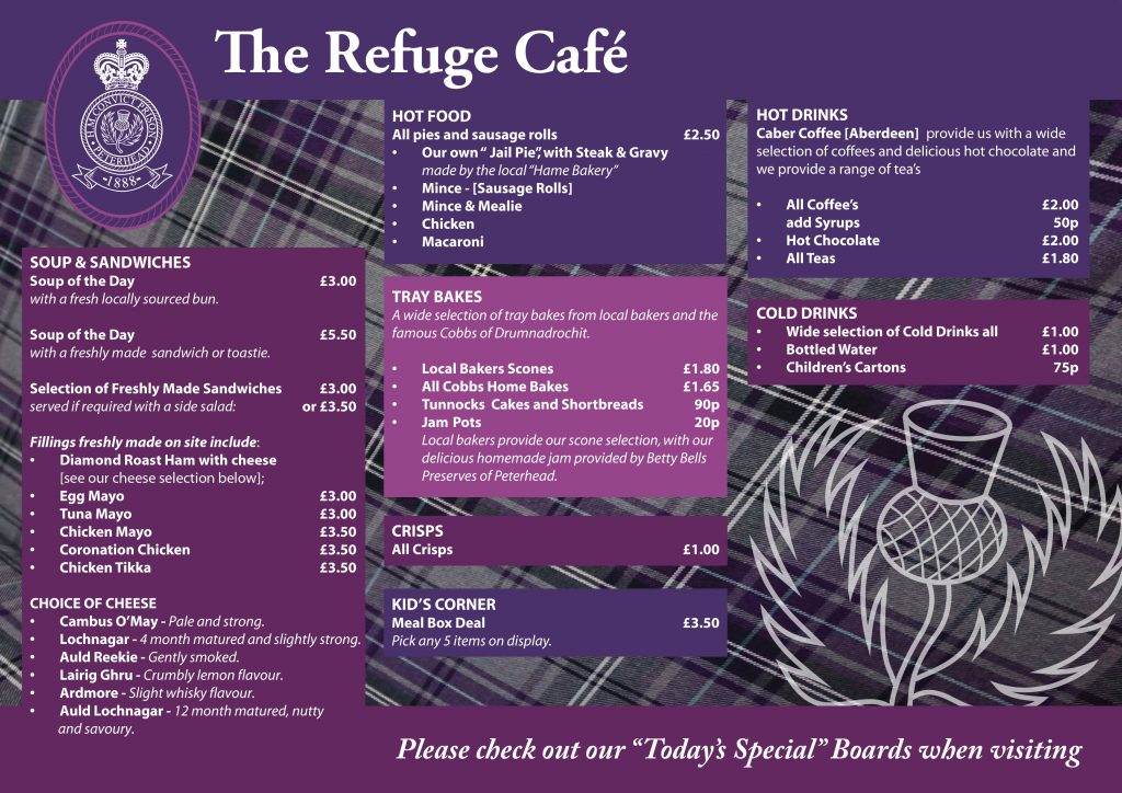 Carta de The Refuge Cafe